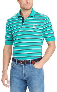 Chaps Big & Tall Classic-Fit Striped Mesh Polo