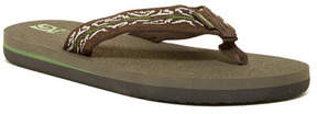 Teva Mush II Wood Stripes Sandal (Big Kid)