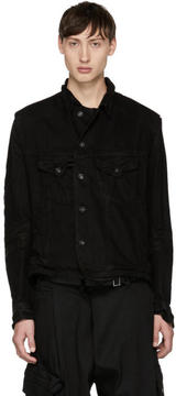 Julius Black Distressed Denim Jacket