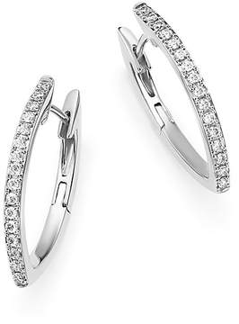 Bloomingdale's Diamond Marquise Hoop Earrings in 14K White Gold, .15 ct. t.w. - 100% Exclusive