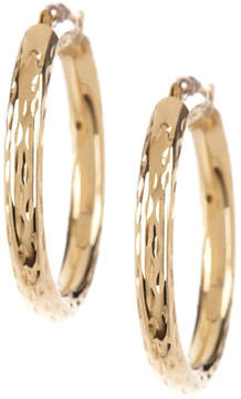 Candela 14K Yellow Gold Diamond Cut 25mm Hoop Earrings