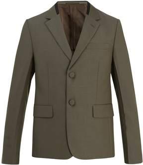 Prada Contrast-collar single-breasted wool blazer