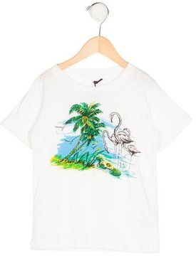 Stella McCartney Boys' Short Sleeve Flamingo T-Shirt