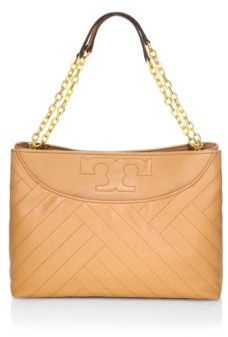 Tory Burch Alexa Slouchy Quilted Leather Tote