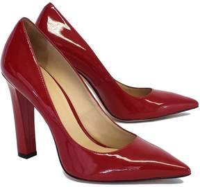 Elizabeth and James Red Vino Patent Leather Pointed Toe Pumps