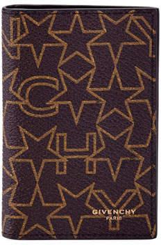 Givenchy Logo Print Card Case, Brown/Beige