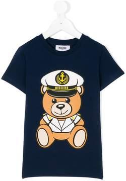 Moschino Kids captain teddy T-shirt