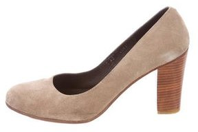 A.P.C. Suede Round-Toe Pumps