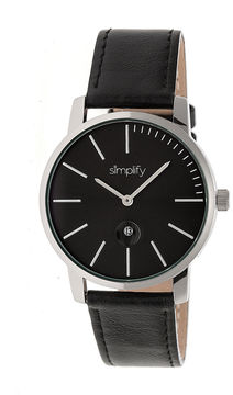 Simplify The 4700 Unisex Black Strap Watch-Sim4702