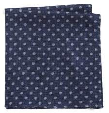 Black & Brown Black Brown Wool Polka Dot Pocket Square