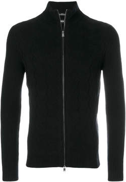 HUGO BOSS knitted zip jacket