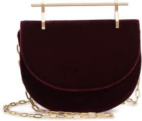 M2Malletier Mini Half Moon Velvet Crossbody Bag
