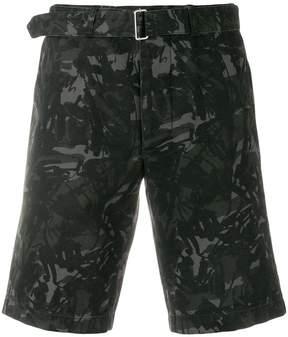 Officine Generale scribble print shorts