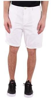 Scotch & Soda Men's White Cotton Shorts.