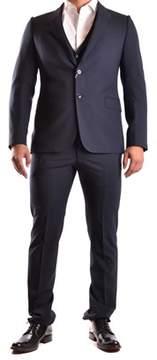 Armani Collezioni Men's Blue Cotton Suit.