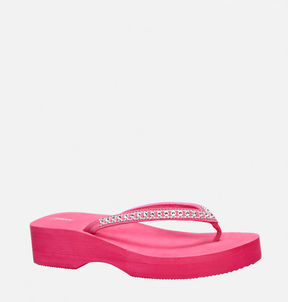 Avenue Scarlet Embellished Flip Flop