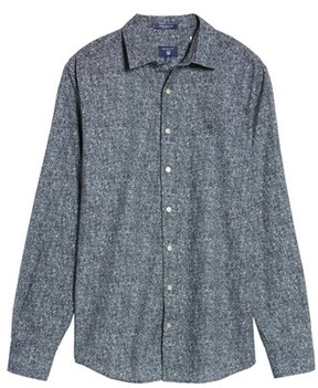 Gant Men's Regular Fit Tweed Print Sport Shirt