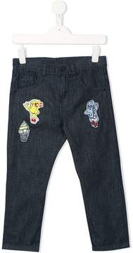 Kenzo patch embellished jeans