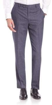 Saks Fifth Avenue COLLECTION Houndstooth Wool Trousers