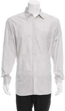 Ralph Lauren Purple Label Houndstooth Print Button-Up Shirt