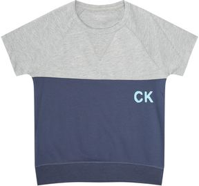 Calvin Klein Short-Sleeved Logo Sweatshirt