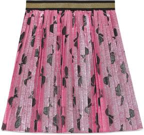 Gucci Children's lurex bows pleated skirt