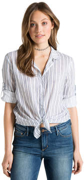 Bella Dahl Capri Button Down-Crown Blue-S
