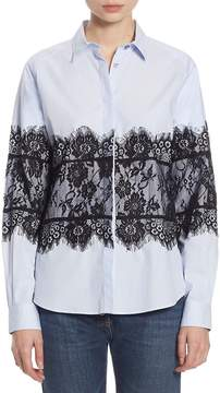Each X Other Women's Lace Cotton Oxford Shirt