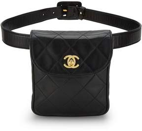 Chanel Black Quilted Lambskin Belt Bag 30