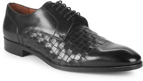 Matteo Massimo Men's Woven Leather Blucher Dress Shoes