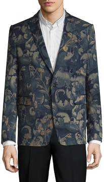 Dries Van Noten Men's Printed Peak Lapel Tailored Jacket