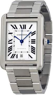 Cartier Tank Solo XL Automatic Silver Dial Stainless Steel Men's Watch