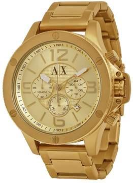 Armani Exchange Open Box Chronograph Champagne Dial Men's Watch