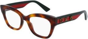 Gucci Eyeglasses GG 0060 O- 002 HAVANA / GREEN