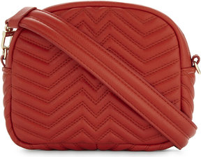 Maje Samileath quilted leather cross-body bag