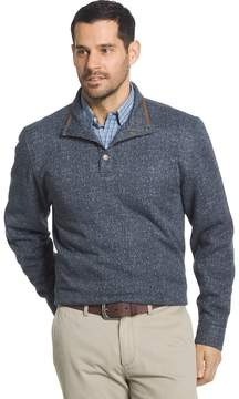 Arrow Men's Classic-Fit Herringbone Mockneck Fleece Sweater