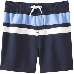 Joe Fresh Baby Boys' Stripe Swim Trunks, JF Midnight Blue (Size 12-18)