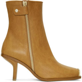 Stella McCartney Tan Metallic Toe Boots