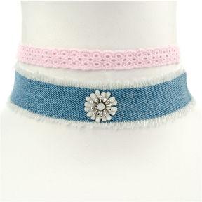 Carole Womens 2-pc. White Necklace Set