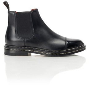 Santoni Stitched Chelsea Ankle Boot