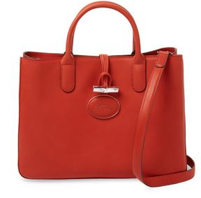 Longchamp Women's Roseau Heritage Leather Medium Tote