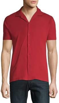 Orlebar Brown Men's Short-Sleeve Cotton Button-Down Shirt