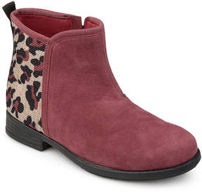Journee Collection Burgundy Leopard Print Marlow Boot