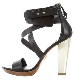 Pour La Victoire Leather Platform Sandals