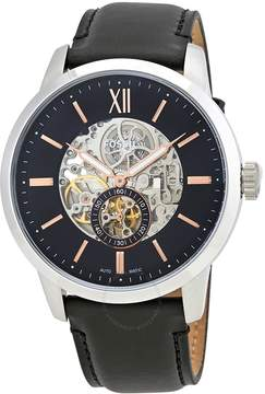 Fossil Townsman Skeleton Dial Automatic Men's Leather Watch