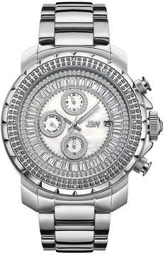 JBW Diamond Mens Silver Tone Bracelet Watch-J6347b