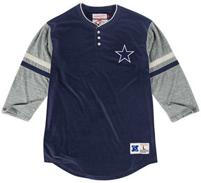Mitchell & Ness Men's Dallas Cowboys Home Stretch Henley 2.0 Longsleeve T-Shirt