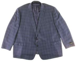 Lauren Ralph Lauren Mens Silk Blend Plaid Two-Button Suit Jacket