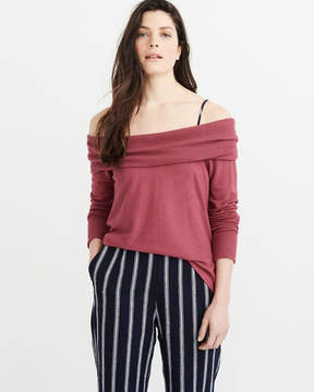 Abercrombie & Fitch Cozy Off-The-Shoulder Tee