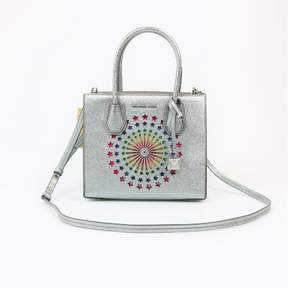 Michael Kors Mercer Medium Light Pewter Messenger - SILVERS - STYLE